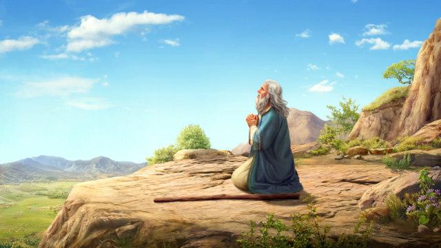 Noah praying to God