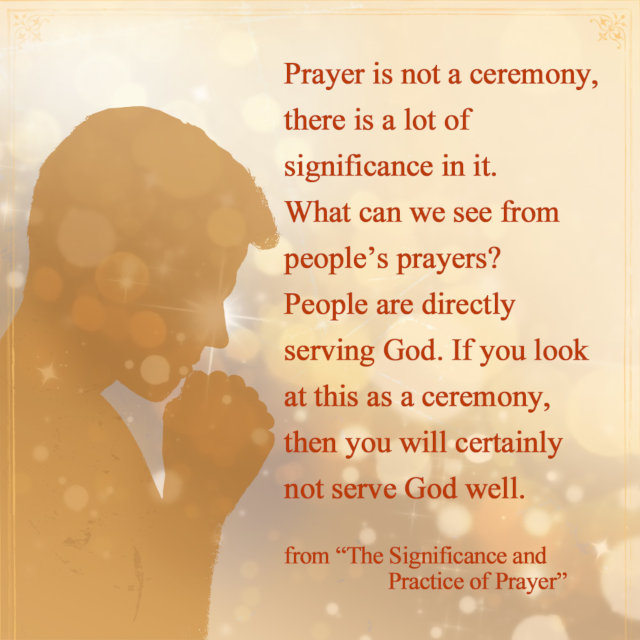 People Are Directly Serving God Through Prayer - Truth Quote