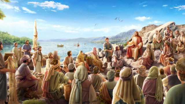 The Lord Jesus preached by the river