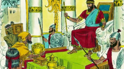 The Queen of Sheba Visits Solomon