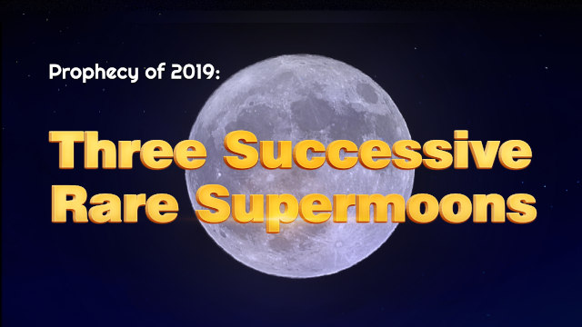 Three Successive Rare Supermoons