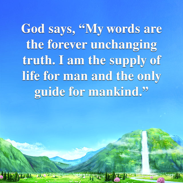 God's Words Are the Supply of Life for Man