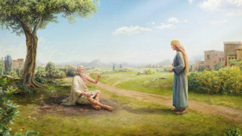 Job rebukes his wife