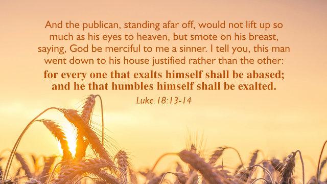 Luke 18:13–14