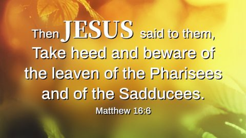 Beware of the Leaven of the Pharisees. A Commentary on Matthew 16:6