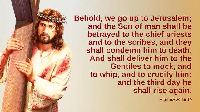 Matthew 20:18-19