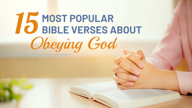 Bible Verses About Obeying God
