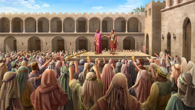 Jesus Is Condemned Before Pilate