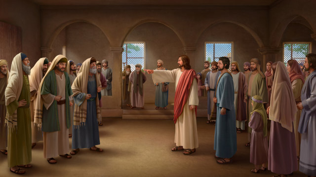 Jesus rebuked the Pharisees