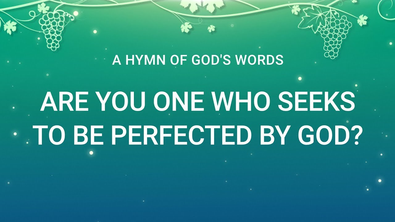 Are You One Who Seeks to Be Perfected by God