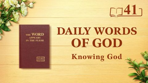 God's Work, God's Disposition, and God Himself II (Excerpt 41)